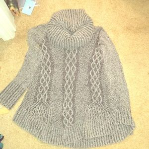 Cowlneck gray sweater